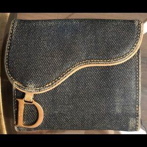 Christian Dior Denim Saddle Wallet - Authe…